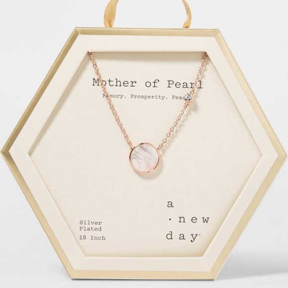 Details about  /A New Day Mother of Pearl Silver Plated 18 inch Necklace